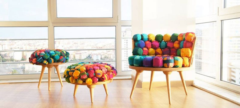 Recycled-Silk-Chair-Ottoman-and-Stool-by-Meb-Rure-2